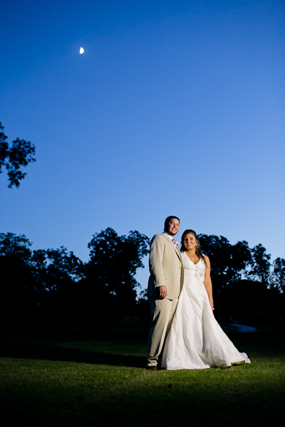Bride and groom portraits at The Orchard in Azle, Texas.