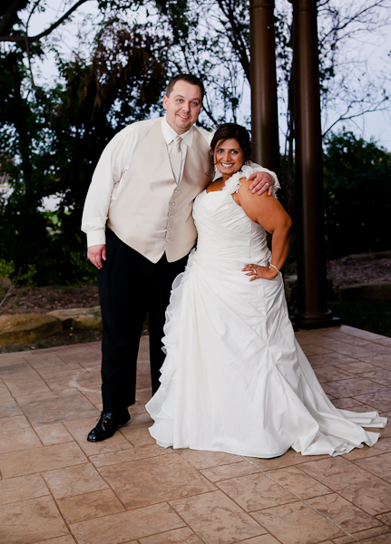 Plaza on the hill at the Sheraton in Arlington by Fort Worth wedding photographer.
