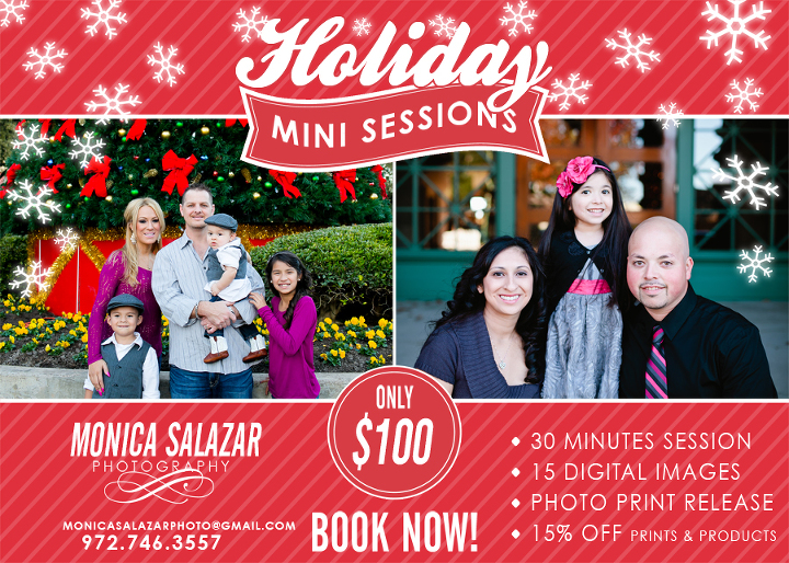 Holiday mini sessions in dallas, fort worth, texas