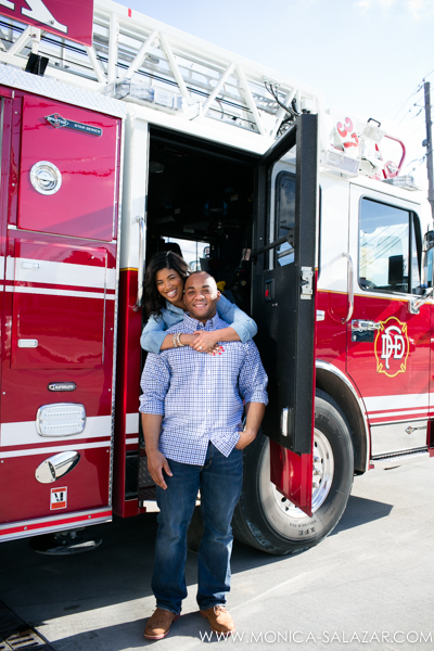 fire station engagement photos
